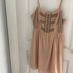 American eagle thin strap dress with beading